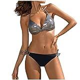 Bikinis brasileños Tanga Mujer Push up con Relleno Sexy 2021 Bikinis calzedonia Halter con Espalda Dividido de bañadores Mujer Natación Conjuntos de Trajes de Baño 2 Piezas Prenda para la Playa Mujer