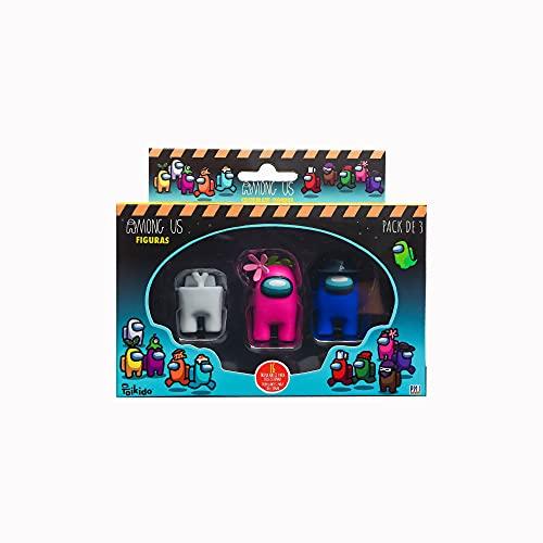 Bizak Among Us-Pack 3 en Caja Surtido Aleatorio, Multicolor (64112021)