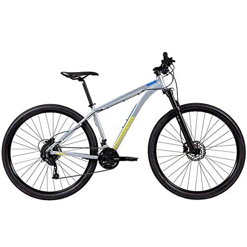 Bicicleta MTB Caloi Atacama Aro 29 - Susp Dianteira - 17' - 27 Velocidades - Prata