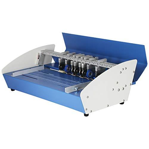 VEVOR Rillmaschine 520 mm, Elektrische Nutmaschine 540 mm x 370 mm x 230 mm, Creasing Maschine 220 V, Bürobedarf und Schreibwaren mit Rundpresstechnik, Falzmaschine für Dateien, Karten, A4-Papiere