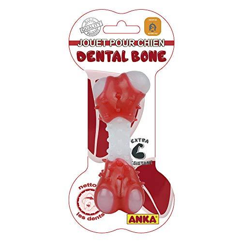 Anka Jouet à mâcher os Dentaire pour Chien Dental Bone Taille M 13,5 cm