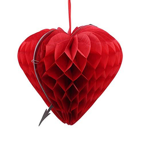 L_shop Hochzeit Herz Papier Anhänger Dekoration Jahrestag Hängen Anhänger Partei Liefert, 30 * 30 cm