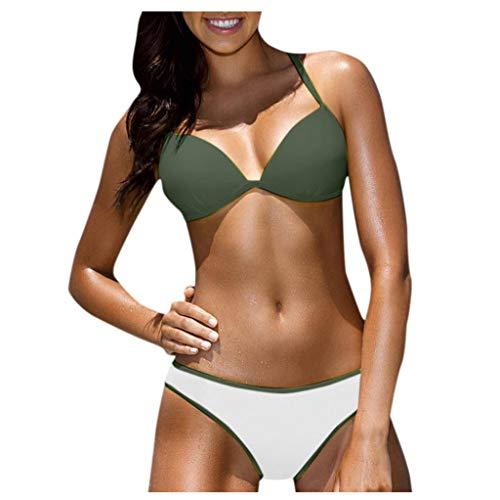 Halter Bikini Met Beugel Bikini Set Dames Grote Maten Hoge Taille Retro Bikini Push Up Badpak Strandjurk Over Bikini