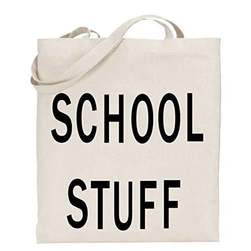 tigerlilyprints School Stuff Bag, Leraar Geschenk, Dank U Gift, Boek Tas, Leraar Tas, Zwarte Tekst, Shopper Tas, Einde van het Jaar Gift