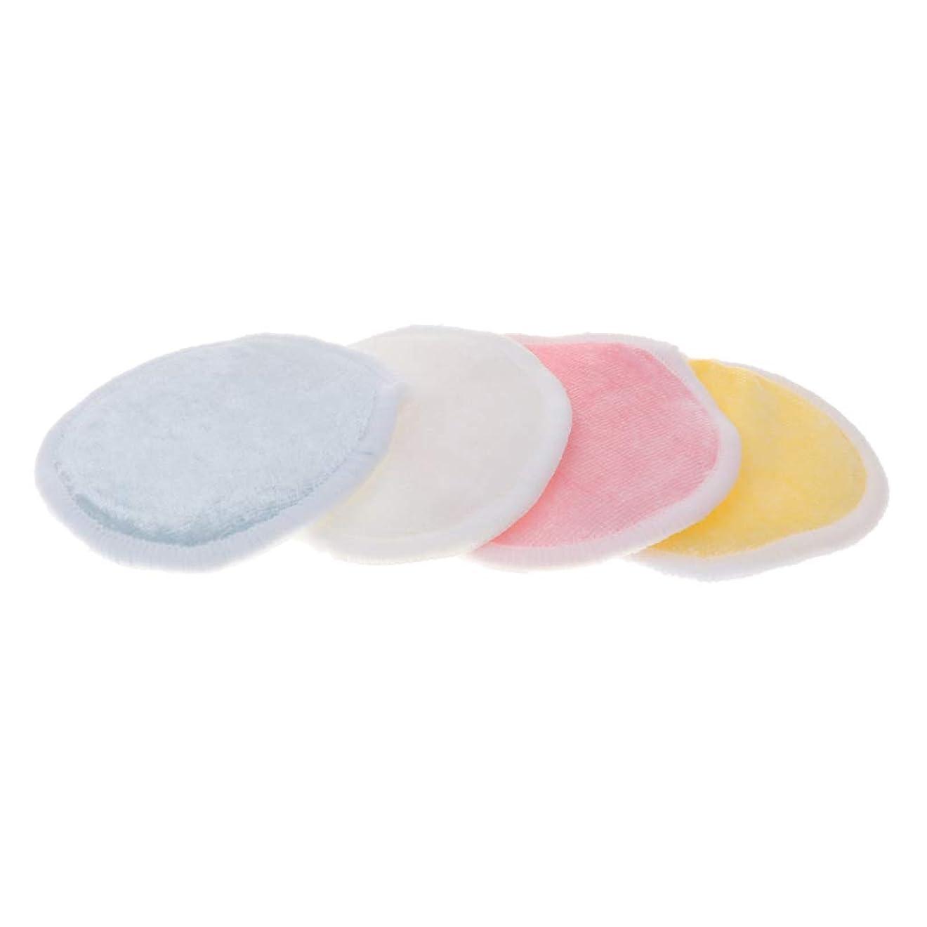 ぬいぐるみ参加者額CUTICATE 全2サイズ メイク落としコットン クレンジングシート 化粧水パッド 再使用可 バッグ付 化粧用 4個入 - L