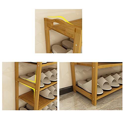 LJHA Étagère à chaussures en bois massif Simple Multi-couche chaussure armoire économique Économique anti-poussière Espace Dortoir Logement Accueil Meubles à chaussures (taille : 50CM)