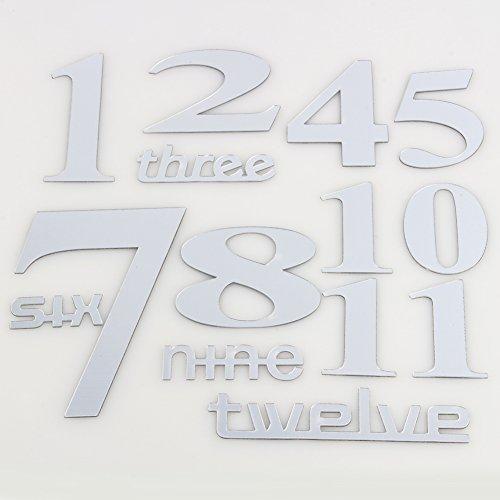 Hanper Adhesivo de pared con reloj creativo impermeable de baño con Fai-da-Te...