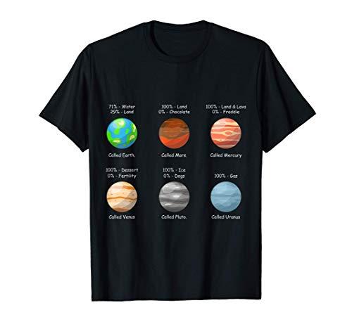 Sistema Solare TShirt Pianeti Via Lattea Maglietta