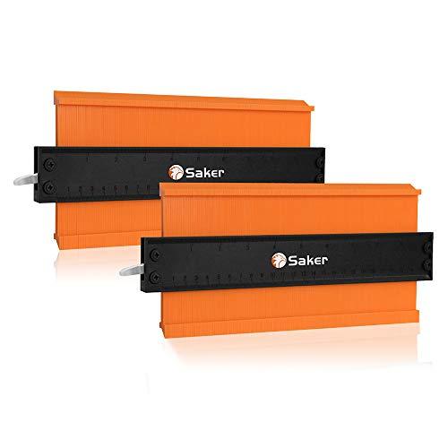 Duplicador de medidor de contorno Saker – Bloqueo ajustable – Copia exacta del duplicador de forma irregular – Soldadura de madera – Herramienta imprescindible para bricolaje Handyman, construcción