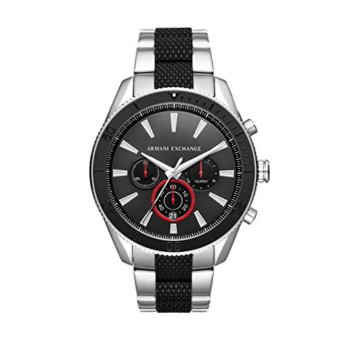 Armani Exchange Herren Chronograph Quarz Uhr mit Edelstahl Armband AX1813