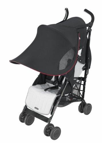 Maclaren ADN63022 - Parasol Extra grande, UPF 50+, para Sillas de paseo plegables tipo paraguas, Negro