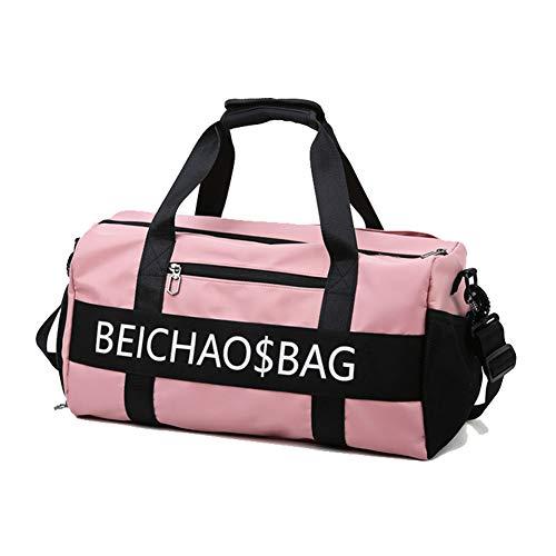 LUGLQA Bolsa de deporte con maleta y mochila con compartimento para zapatos para la noche, bolsa de deportes, yoga, gimnasio, bolsa de viaje de gran capacidad