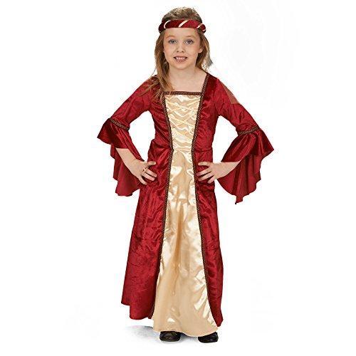 Andrea Moden 140-104 - Disfraz infantil de fresa del castillo para niña, multicolor , color/modelo surtido