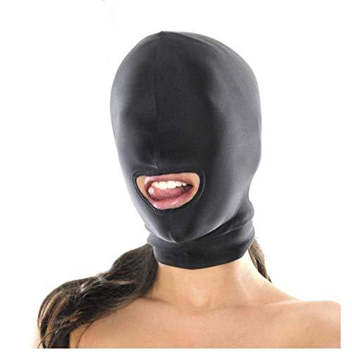 SexReaper Máscara de Halloween misteriosa Transpirable Negra