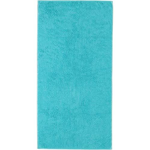 Cawö handdoek Unique omkeerbare doek 943 | 44 turquoise - 50 x 100