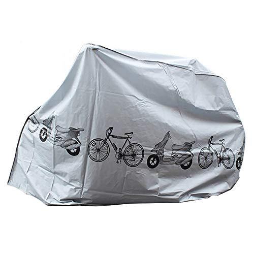 1PC Cubiertas de Bicicletas a Prueba de Agua, Cubiertas de Bicicletas Polvo Lluvia Protección UV Cubierta Impermeable al Aire Libre de la Bicicleta Cubierta Gris