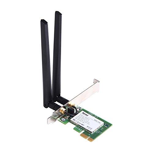 fenvi Desktop Wireless Card 2.4/5GHz Draft 802.11n 300Mbps Desktop WLAN PCI-E Card Windows Mac OS X Hackintosh System Also Supporting Windows 7 Windows 8 Windows 10