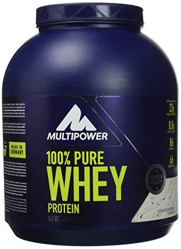 Multipower 100% Pure Whey Protein - Fino a 80% di Proteine del Siero del Latte - Proteine Isolate come Fonte Principale - 67 Porzioni - Per lo sviluppo Muscolare - 2 Kg - Gusto Cookies&Cream