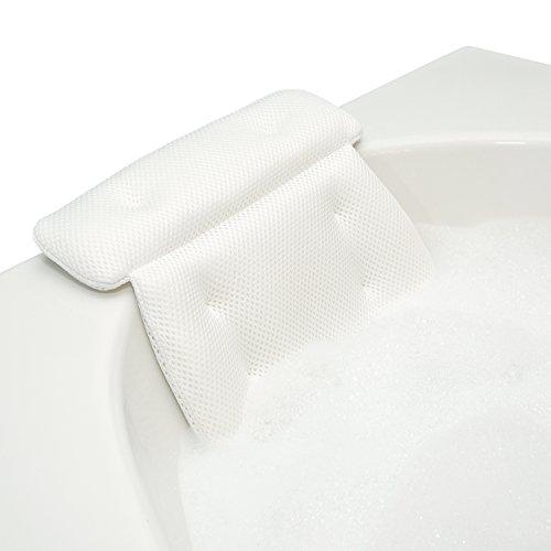 QuiltedAir Bath Pillow - Luxury Bathtub Pillow with 3D Air Mesh Technology,...