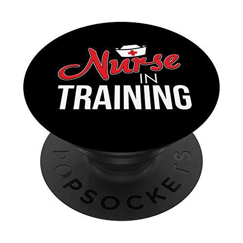 Cute Nurse In Training Nursing Student RN PopSockets Supporto e Impugnatura per Smartphone e Tablet