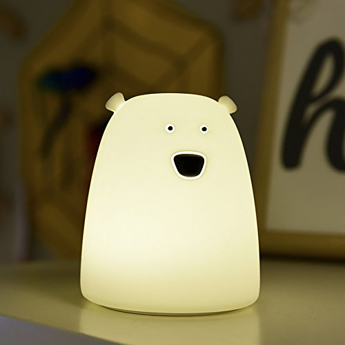 Lumières de nuit mignonnes pour Childern S & G Capacité de 7 couleurs à côté de la lampe de lit pour bébé (Petit ours)