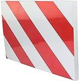 AERZETIX - Protector de Pared de ángulo del Garaje Autoadhesivo para Puertas de Coche - 200х300х15mm - de Goma - Reflectante Rojo y Blanco - C47182