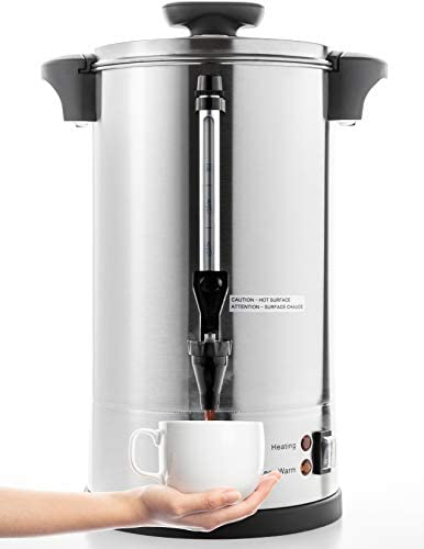 SYBO RCM016S 8B Commercial Grade Stainless Steel Percolate Coffee Maker Hot Water Urn for Catering product image