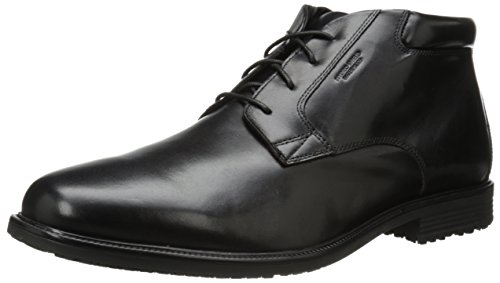 Rockport Men's Essential Details Waterproof Dress Chukka Boot,Black,7 W US