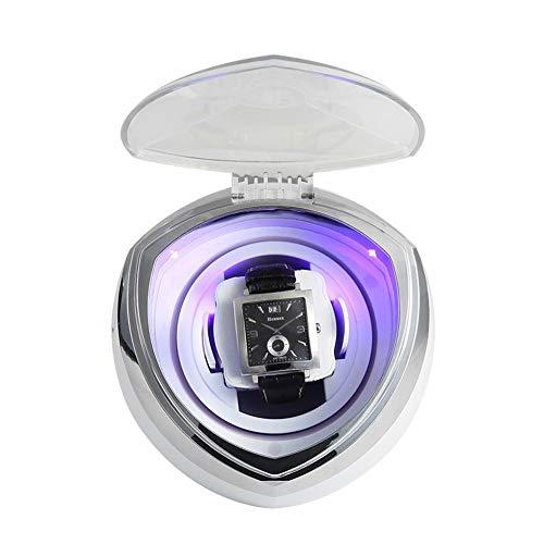 Jlxl 1 Rotores Relojes Mecánicos Caja Bobinadora Luz LED 5 Modos de...