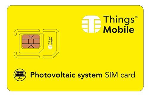 SIM-Karte für PHOTOVOLTAIK - Things Mobile - mit weltweiter Netzabdeckung und Mehrfachanbieternetz GSM/2G/3G/4G. Ohne Fixkosten und ohne Verfallsdatum. 10 € Guthaben inklusive