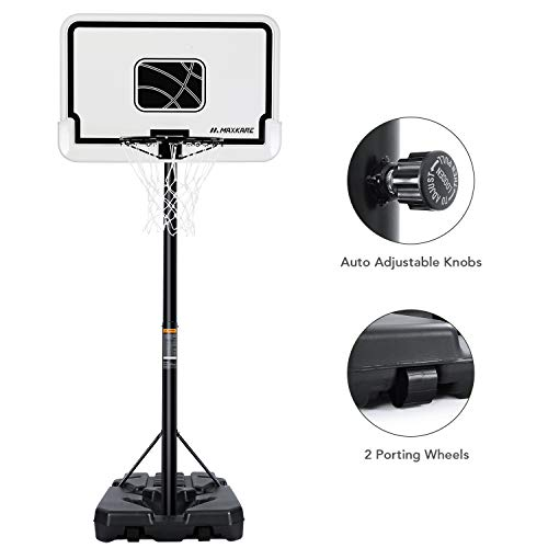 MaxKare Basketball Hoop Portable Basketball Goal System with 44 Inch...