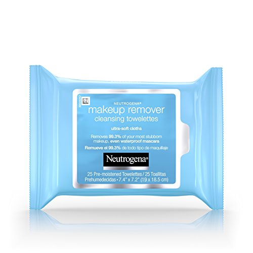 Neutrogena Makeup Remover Cleansing Towelettes, Fragrance Free, 25 ct (Pack of 6)