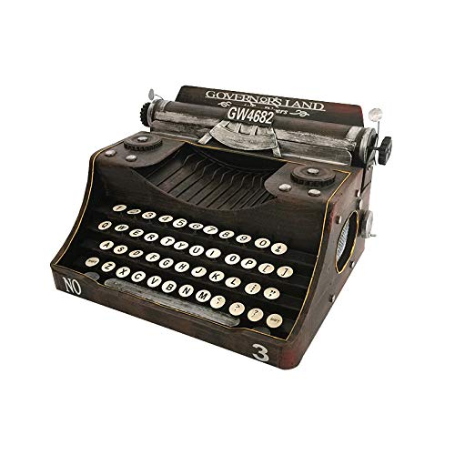 JORSION Retro Vintage Typewriter Model,Handmade Props Model Retro Decoration,Home Decoration Ornaments