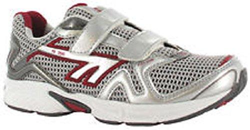 Hi-Tec R156Sz de course à pied-Junior-Blanc/rouge/argent/noir - 10