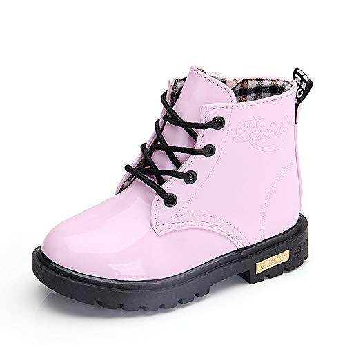 QZBAOSHU Schuhe Stiefel Stiefeletten Baby Mädchen Jungen wasserdichte Schneeschuhe für 2-12 Jahre Alte 33 EU(Etikettengröße 34) Rosa: Plüsch innenner