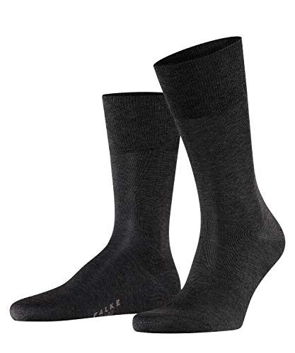 FALKE Herren Socken Tiago - 95% Baumwolle, 1 Paar, Grau (Anthracite Melange 3190), Größe: 43-44
