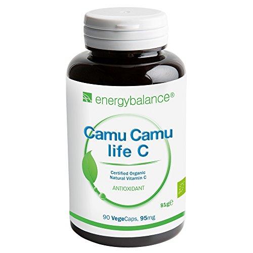 Camu-Camu life C | Vitamina C | calidad ecológica certificada | vegano | sin gluten | 90 VegeCaps