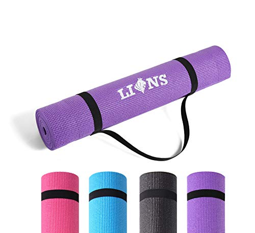 Lions Yoga Mat with Carry Straps - Eco Friendly | 6MM Thick | 1100 GSM | Non Slip |...