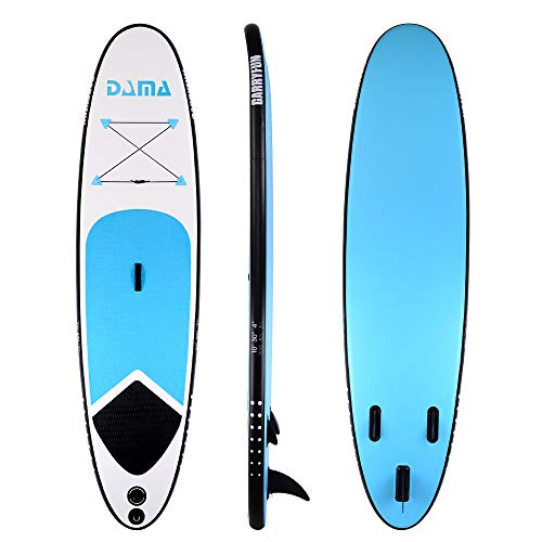 DAMA Inflatable Stand up Paddle Boards (10'), SUP Paddle Board,Kids Board, SUP Paddle Board, Drop Stitch And PVC, Fin,Carry Bag,Paddle,Hand Pump,Leash,all Round Board,Blue