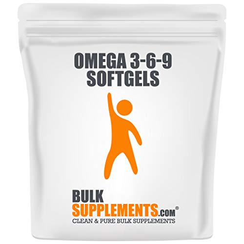 Bulksupplements.com Omega 3-6-9 Softgels - Fish Oil Supplements - Triple Omega 3-6-9 (1200 mg) (300 Count)