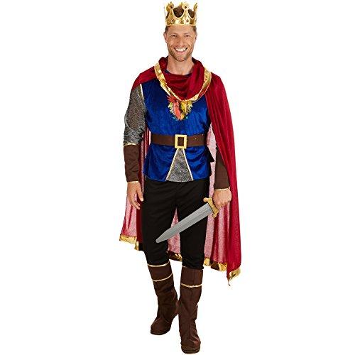 TecTake Herrenkostüm König | Langarmshirt mit Wappen-Aufdruck | Bequeme Hose | inklusive Stiefel- und Armstulpen (XL)
