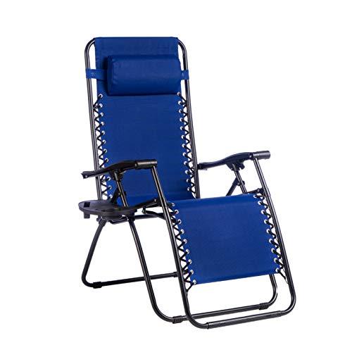 sedia sdraio con poggiapiedi Enrico Coveri Sedia Sdraio Relax Reclinabile Con Cuscino Imbottito E Portaoggetti