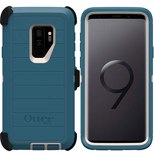 OtterBox Defender Series Rugged Case & Holster for Samsung Galaxy S9 PLUS (ONLY) Retail Packaging - Big Sur - with Microbial Defense