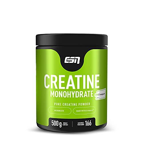 ESN Creapure® Creatine Monohydrate – 500 g – 166 Portionen – 5,5 Monatspackung – hochwertiges reines Creatine Monohydrate – Kosher- und Halalzertifiziert – vegan – Hergestellt in Deutschland