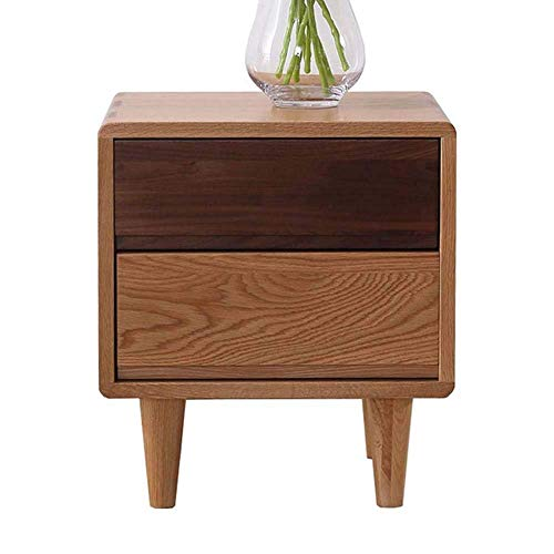 N/Z Tägliche Ausrüstung Nachttisch Beistelltisch für Wohnzimmer/Schlafzimmer Nachttische Massivholz Beistelltisch Eckschrank Schlafzimmer Schließfach Kleine Schublade Büro-Couchtisch mit Einer Schubl