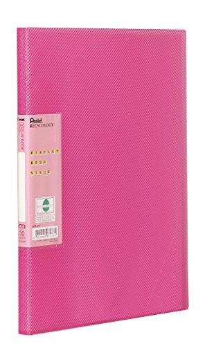 Pentel DCF343P Recycology Präsentationsmappe Vivid aus 50% recyceltem PP, A4, 30 Taschen, pink