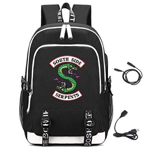 Riverdale Rucksack mit USB Ladeanschluss, Unisex Schule Notebook Rucksack für Herren Damen,kinder