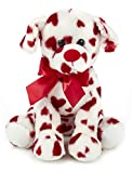 Bearington Romantic Rover Plush Stuffed Animal Puppy Dog with Hearts, 12 inches