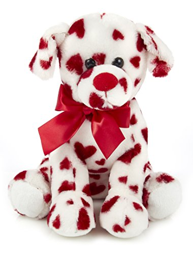 Bearington Romantic Rover Plush Stuffed Animal Puppy Dog with Hearts 12 inches