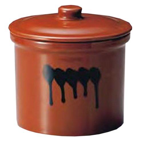 紅星窯 漬物容器 蓋付切立瓶 1号 1.8L J-8